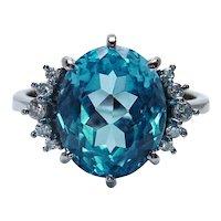 H. STERN Topaz Diamond 18K White Gold Ring Designer Signed Estate 6ct