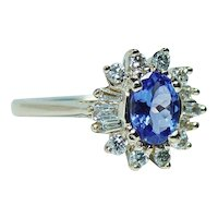 Tanzanite Diamond 14K Gold Cocktail Ring