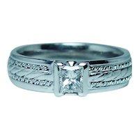Platinum Princess Diamond Mens Wedding Ring Band Size 11.25 Designer Novell
