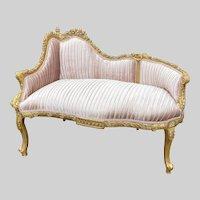 French Louis XVI Style Bench Settee Sofa