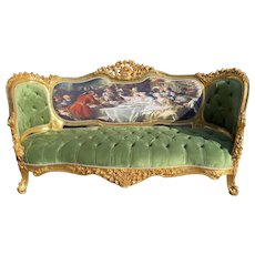 French Louis XVI Style 3 Seater Sofa/Settee/Couch