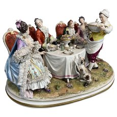 Antique Capodimonte Porcelain group