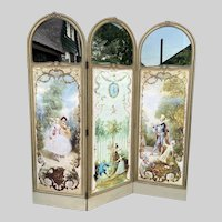 Antique French Room Divider (Paravent) Worldwide free shipping