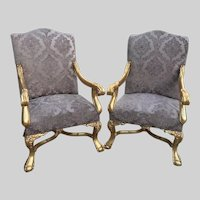 Antique chairs in Louis XVI style-a pair