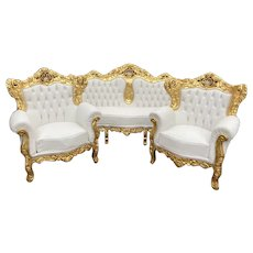 Old French Louis xvi Baroque Sofa + 2 chairs