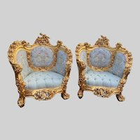 New Rococo set of two chairs- a pair