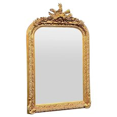 French Louis XVI Style Mirror in Gold