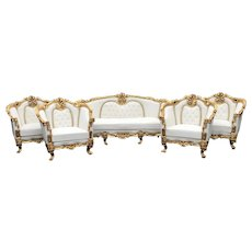 French Louis XVI Living Room Set - 5 Pieces