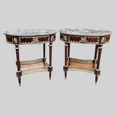 Two Amazing Side Tables in French Louis XVI Style