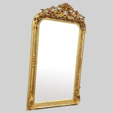 French Louis XVI Style Mirror - in gold