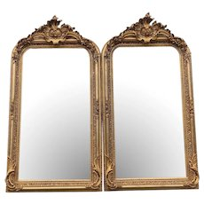 French Style Full Length Mirrors-A Pair