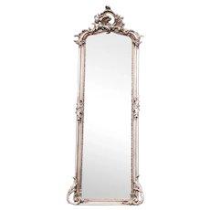 Rococo Style Full Length Mirror Silver Leaf