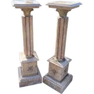 Two Beautiful French Louis XVI Style Collumns/Pedestals/Pillars