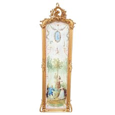 Unique French Rococo Style Frame With Gobelin Story
