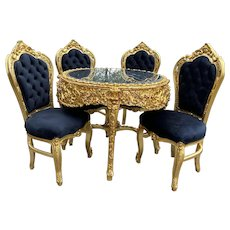 Italian Baroque Style Dining set Black and Gold