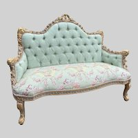 New Pastel French Louis XVI Style Settee/Sofa