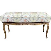 Antique frame bench/settee/stool/banquette with new durable cushion