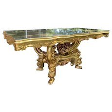 Italian Baroque Style Dining Table Gold