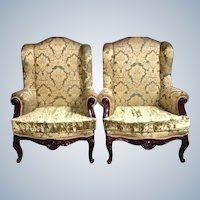 Two beautiful old chairs in big model in French Louis XVI style