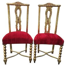 Set of two elegant dining room chairs