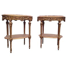 One side table made in Louis XVI style