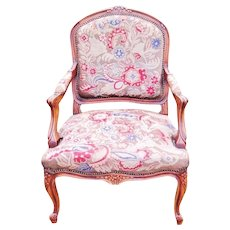 19th CENTURY FRENCH CHAIR PETIT POIN