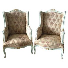 Elegant pair of two chairs in Louis XVI style