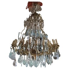 Big Chandelier in Louis XVI style