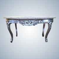 ONE SILVER COFFEE TABLE IN ITALIAN STYLE