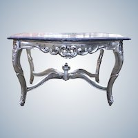 19th century baroque style coffee table