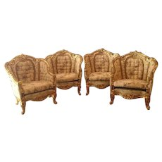 Four chairs made in Louis XVI style