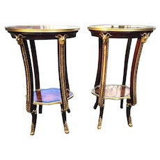 Practical and elegant pair of side tables made in Louis XVI style