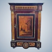 Very nice commode, Napoleon III with Vernis Martin