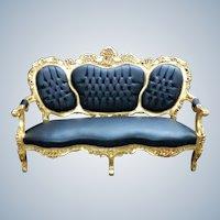 19th century Italian sofa for 3 person