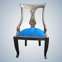 Unique small chair in Louis xvi style