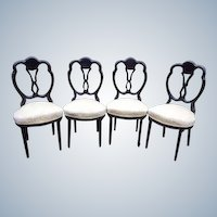 Set of 5 dining room chairs in French style