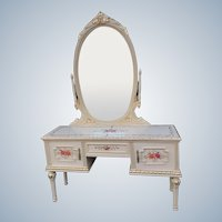 19th century console with mirror in Louis xvi style