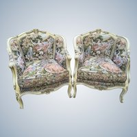Pair of antique chairs in Louis XVI style
