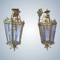 Pair of two wall lamps in Louis XVI style
