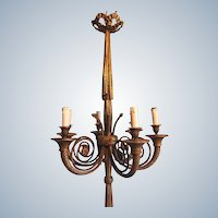 Chandelier in Louis xvi style with new wire