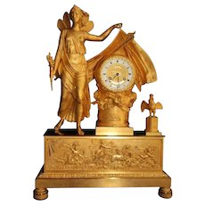 French Empire Table Clock/Pendulum - Free Worldwide Shipping