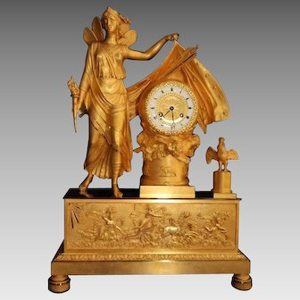 French Empire Table Clock/Pendulum - Free Worldwide Shipping