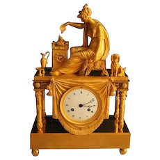 French Empire Table Clock/Pendulum from 1810