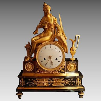 French Empire Table Clock/Pendulum from 1810 - Free Worldwide Shipping