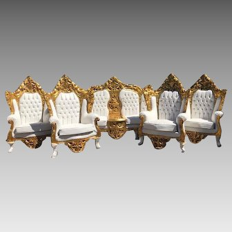 Complete Sofa/Settee/Couch With 4 Chairs in Rococo