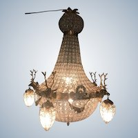 Louis XVI Deer Head Chandelier - Free Worldwide Shipping