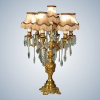 Stunning Louis XVI Candelabra with Shades