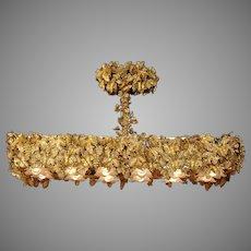 Stunning Louis XVI Chandelier Fine Gilded Bronze