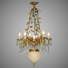 Beautiful Chandelier XVI style Gilded Bronze with Crystal