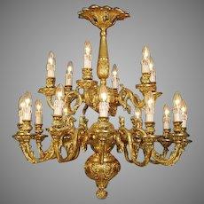 Gilded Bronze Louis XVI Chandelier